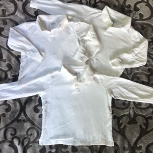 Lot of 3 White Osh Gosh LS polo shirts
